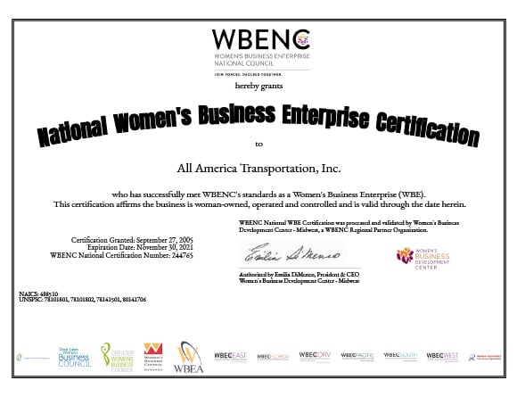 WBENC Certification